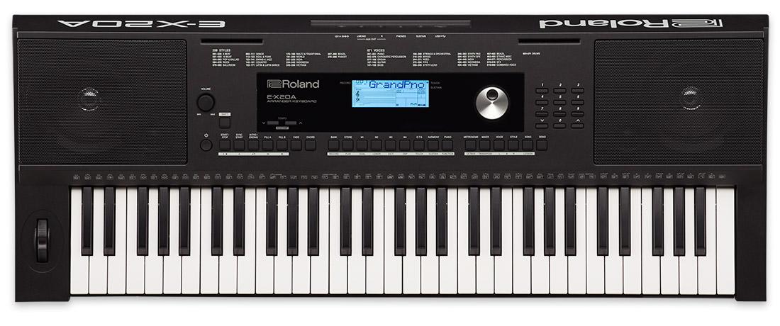 Teclado Roland para iniciantes E-X20A