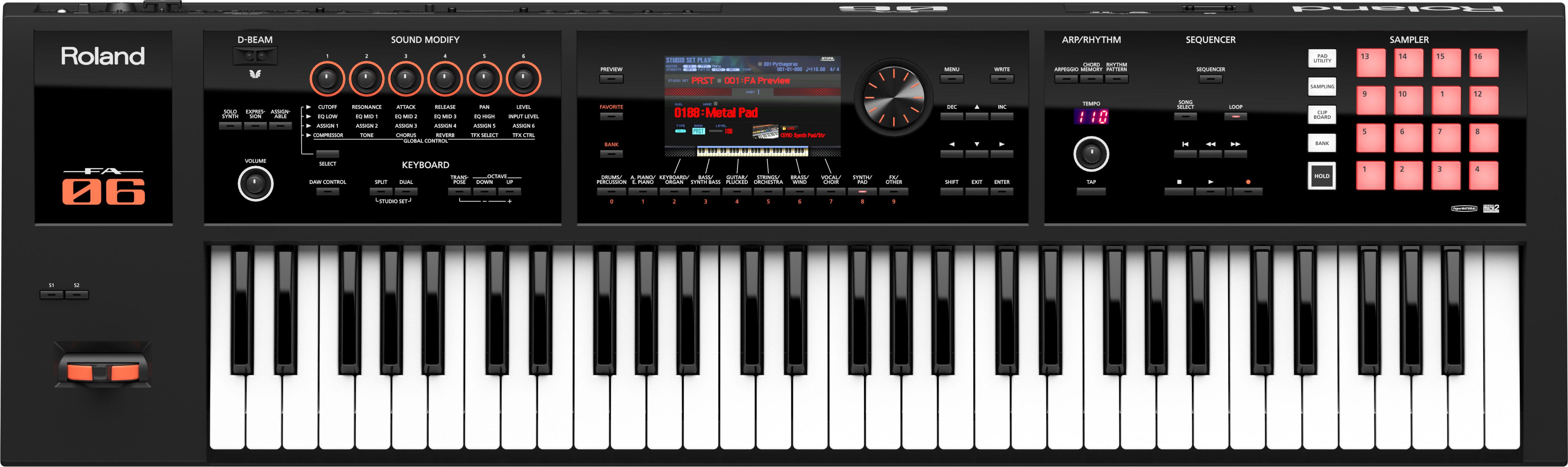 roland fa 06 fa 07 fa 08 music workstation