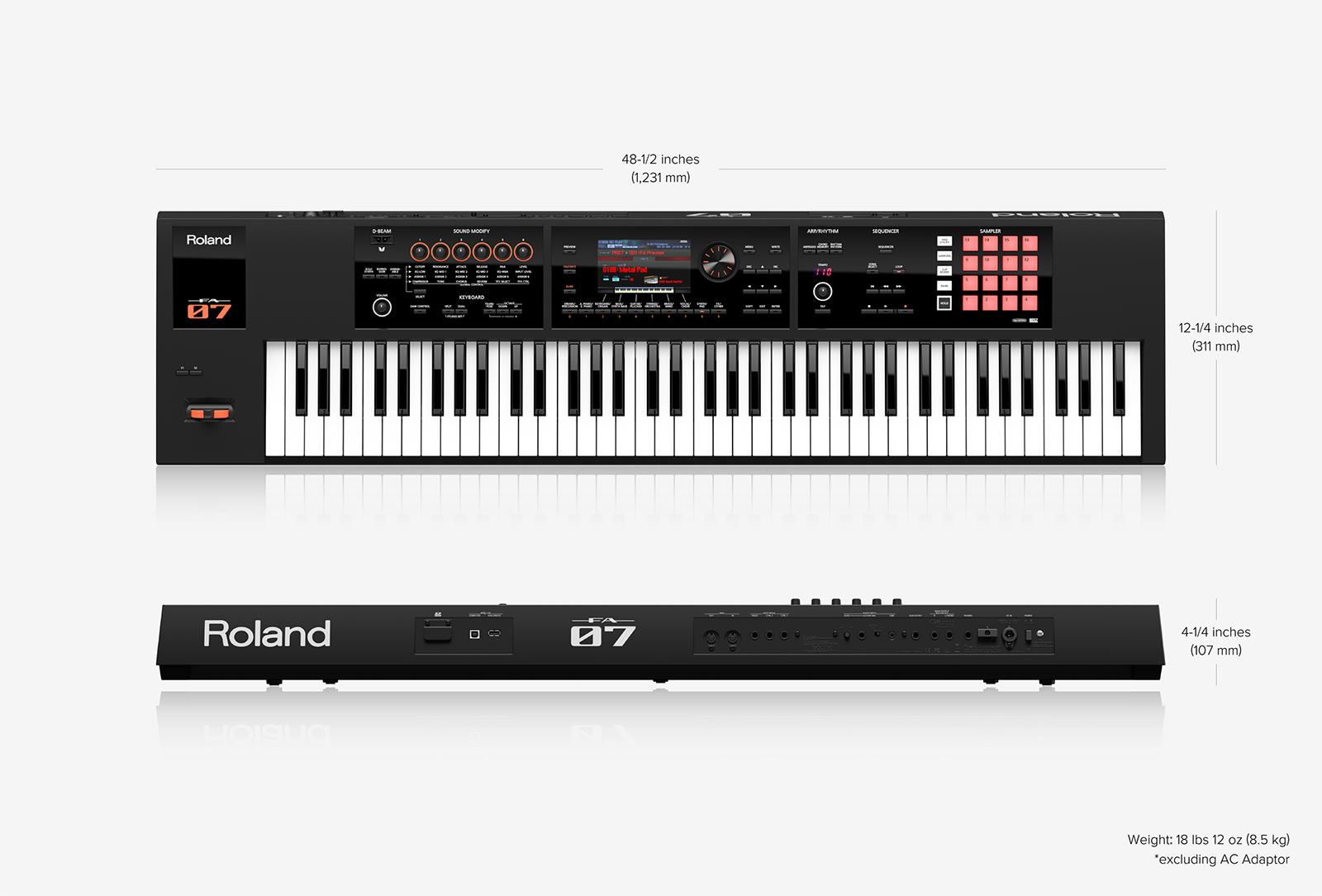 roland fa 07 76 key music synthesizer workstation audioworksct. Black Bedroom Furniture Sets. Home Design Ideas
