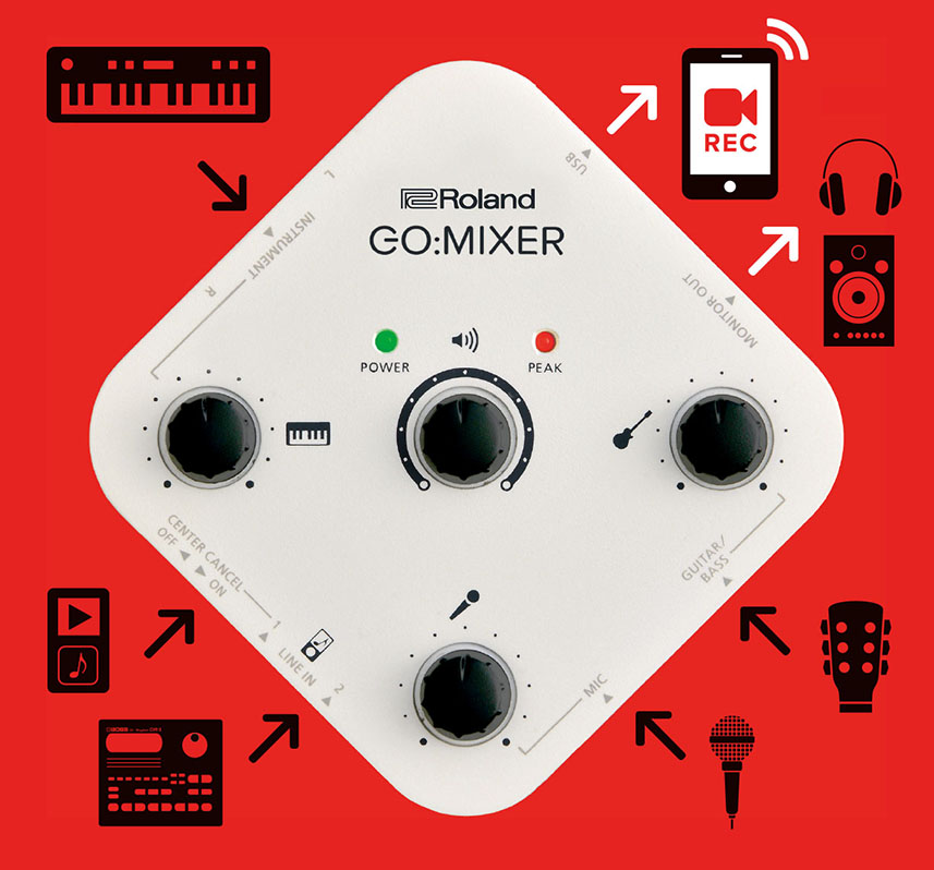 Roland - GO:MIXER | Audio Mixer for Smartphones