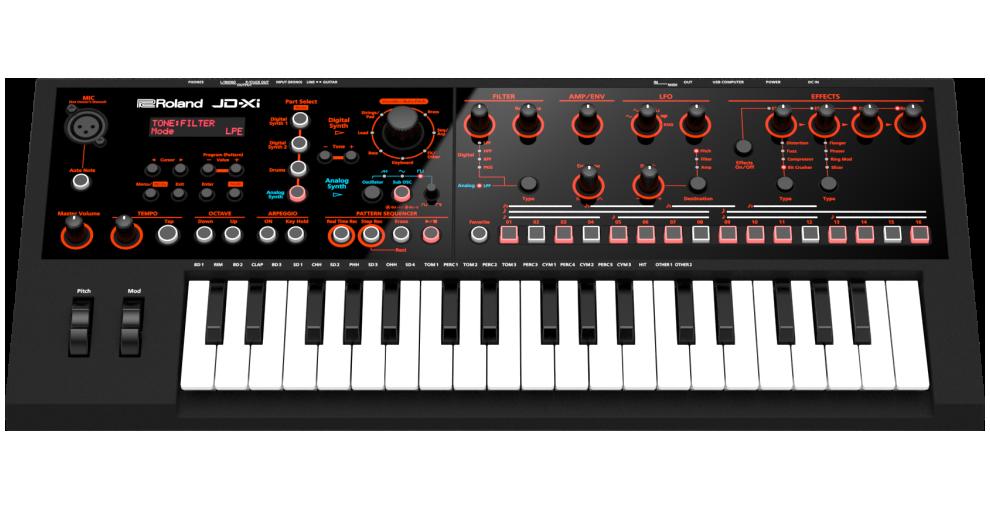 Roland - JD-Xi | Interactive Analog/Digital Crossover