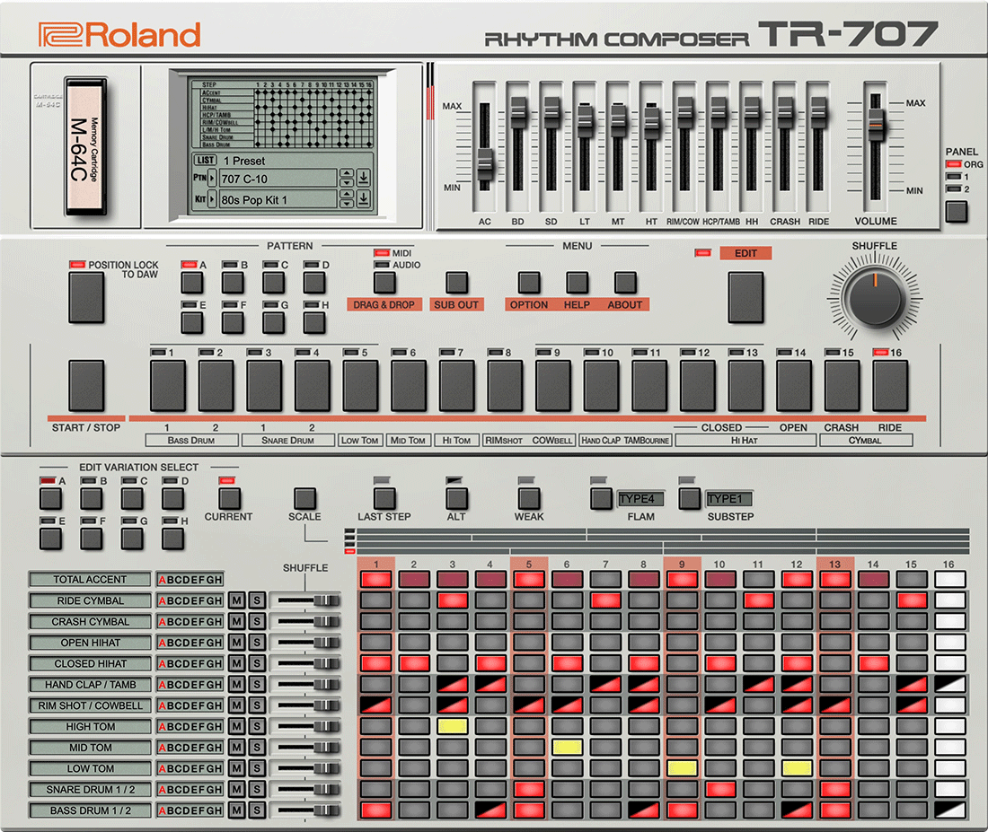 707 Software Rhythm Composer | Ultra-powerful sequencing