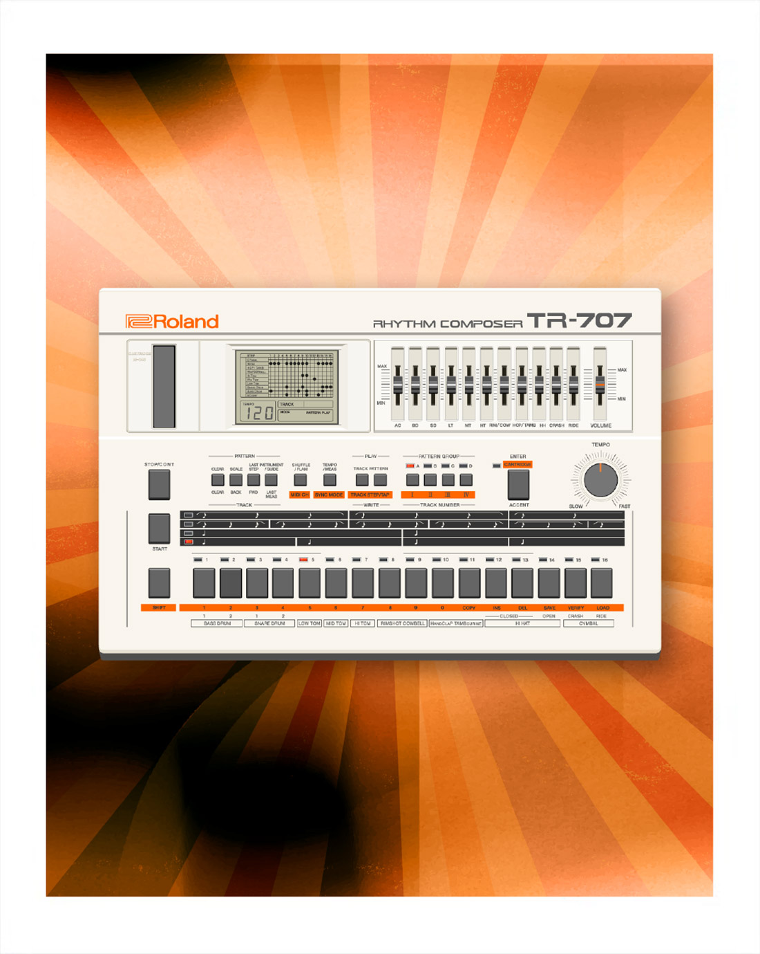707 Software Rhythm Composer | From 1985 straight to your DAW