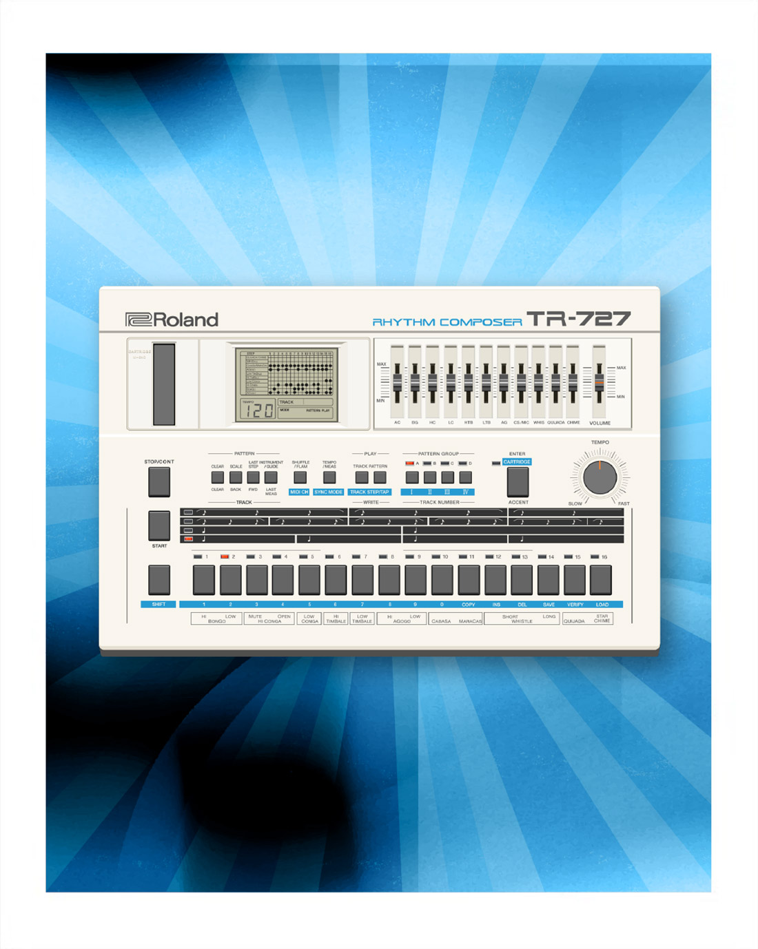 727 Software Rhythm Composer | From 1985 straight to your DAW
