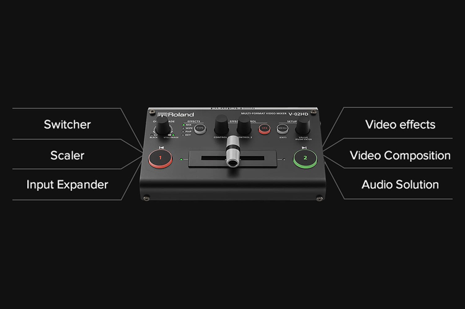 Switcher, scaler, expander — with audio processing and video effects