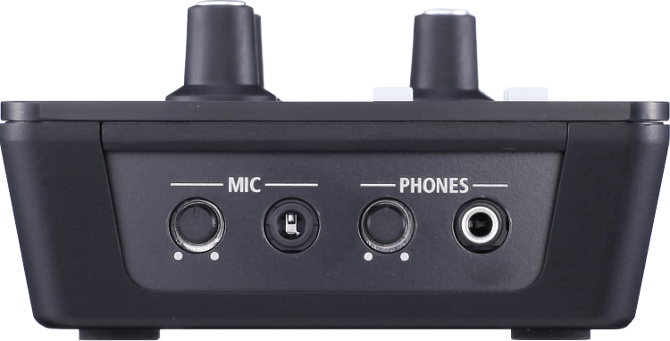 The Mic input jack on the left side panel