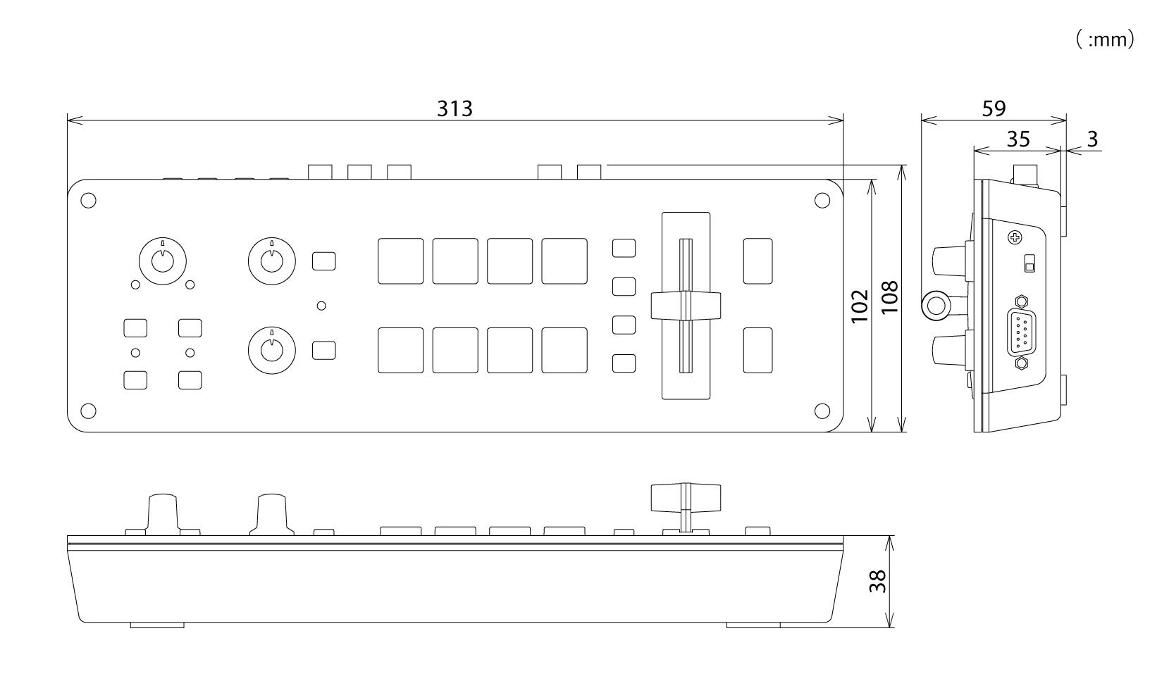 Roland Pro A V 1sdi 3g Sdi Video Switcher Simple 3 Channels Mini Mixer Circuit Diagram Block Cad Data