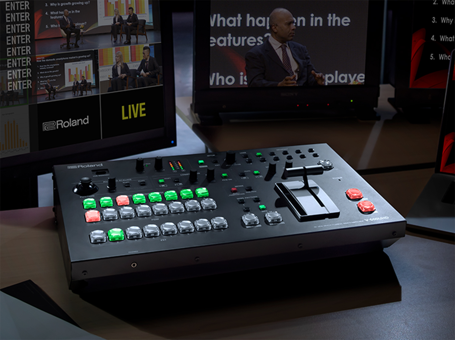 V-600UHD | 4K HDR Multi-format Video Switcher - Roland Pro A/V