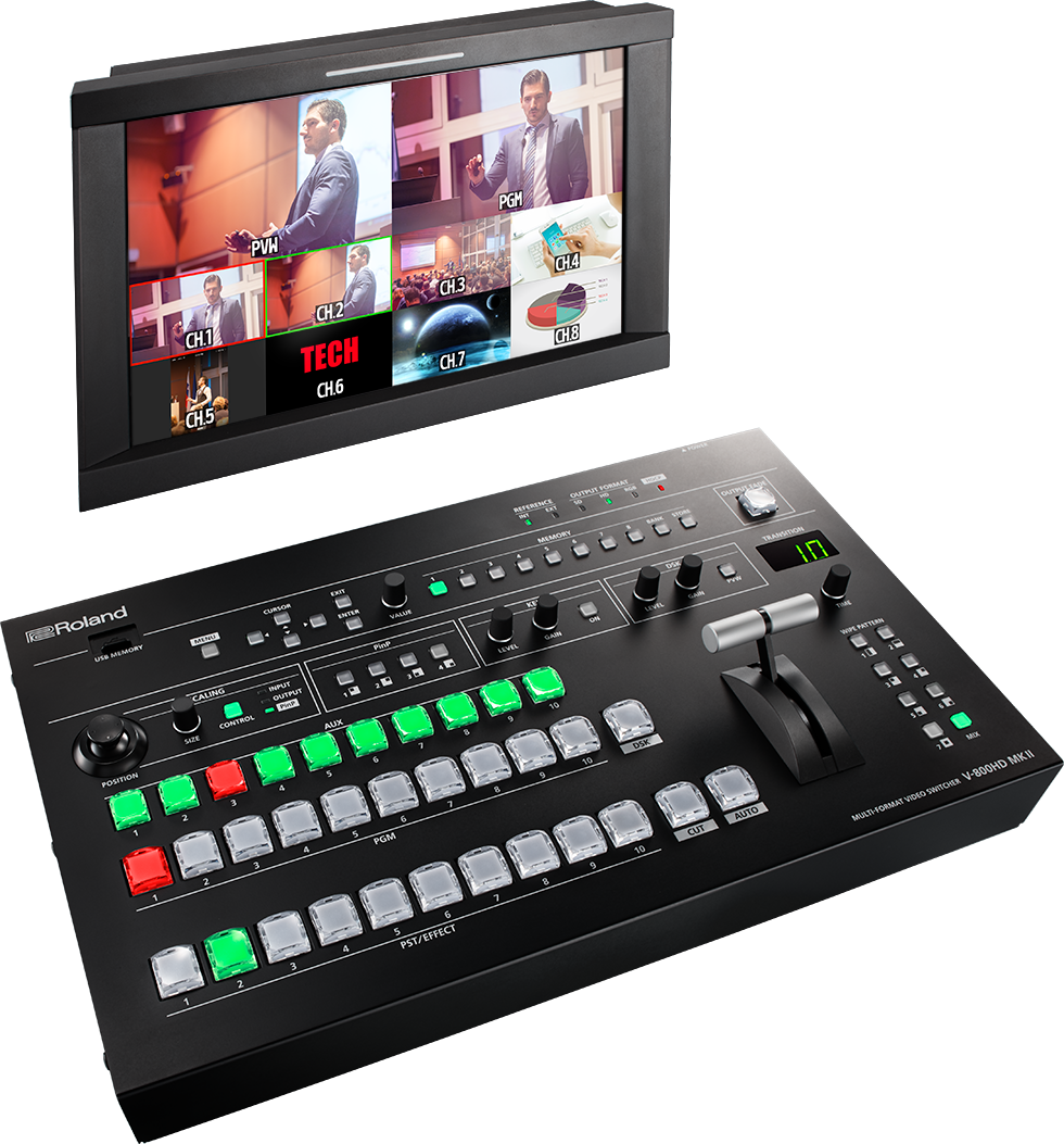 V-800HD MK II | Multi-Format Video Switcher - Roland Pro A/V
