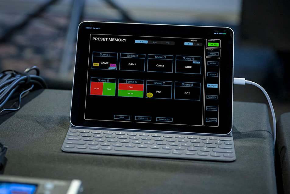 V-8HD iPad Remote Control Utility