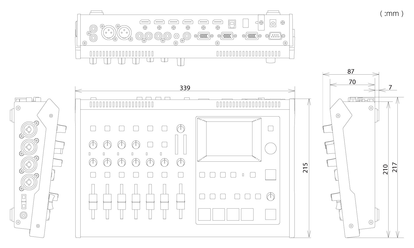 Roland Pro A V Vr 4hd Hd Av Mixer Schematic Block Diagram Of Webcam System Cad Data