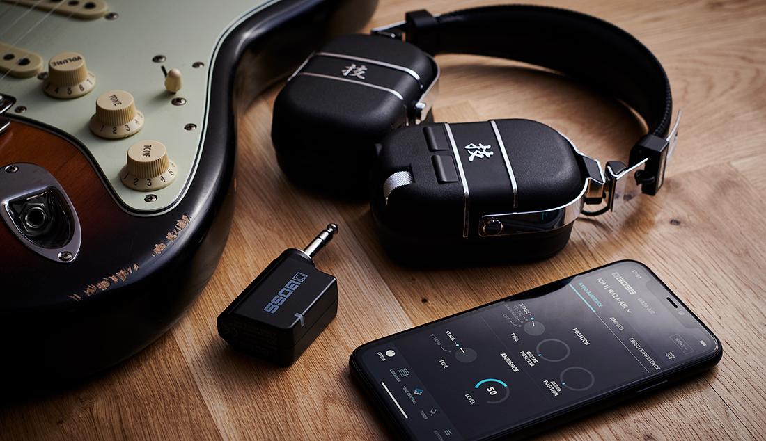 ה-Waza-Air - אוזניות אלחוטיות עם מגבר גיטרה ואפקטים מובנים