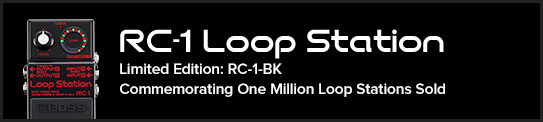 RC-1 Loop Station Limited Edition: RC-1-BK Commemorating One Million Loop Stations Sold New